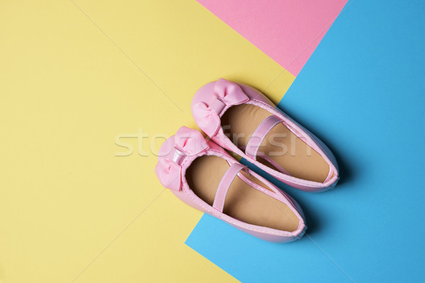 pink girl shoes on a colorful background Stock photo © nito