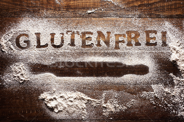 text gluten free written in german Stock photo © nito