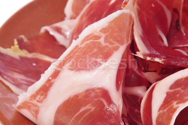 Serrano jambon plaque tranches espagnol Photo stock © nito