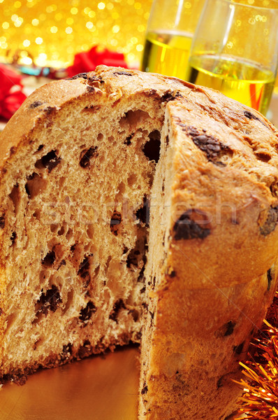 panettone and champagne Stock photo © nito