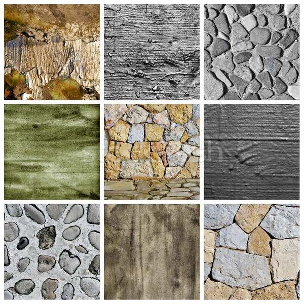 walls and surfaces collage Stock photo © nito
