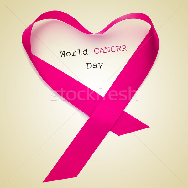 Stock photo: world cancer day