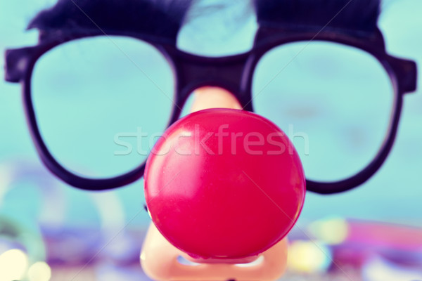 fake glasses and clown nose Stock photo © nito