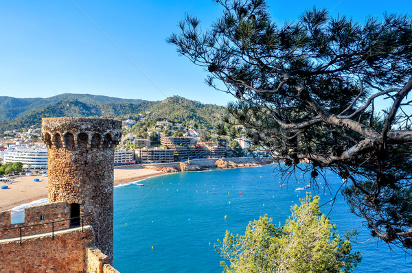 old town and the Platja Gran beach of Tossa de Mar, Spain Stock photo © nito