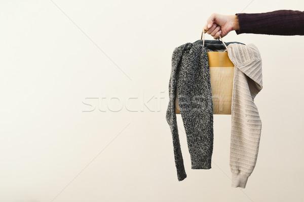 Man boodschappentas kleding hand jonge Stockfoto © nito