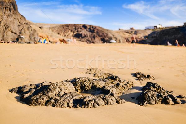 Playa Mujeres beach in Lanzarote, Canary Islands, Spain Stock photo © nito