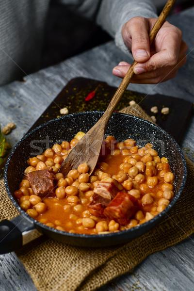 Spaans stoven typisch jonge kaukasisch Stockfoto © nito