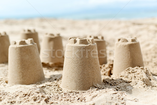 sandcastles on the sand of a beach Stock photo © nito
