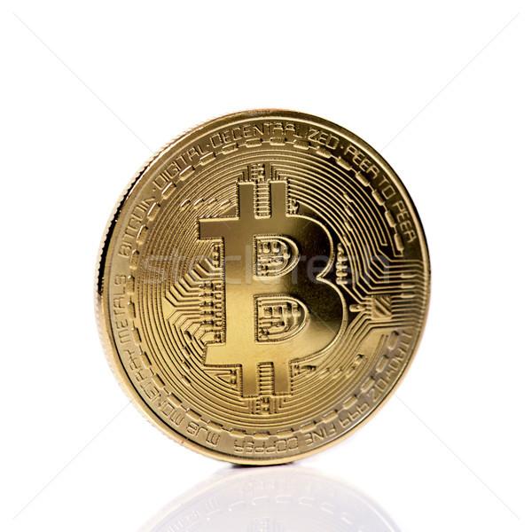 bitcoin on a white background Stock photo © nito
