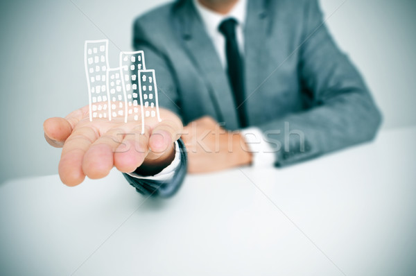businessman and buildings Stock photo © nito