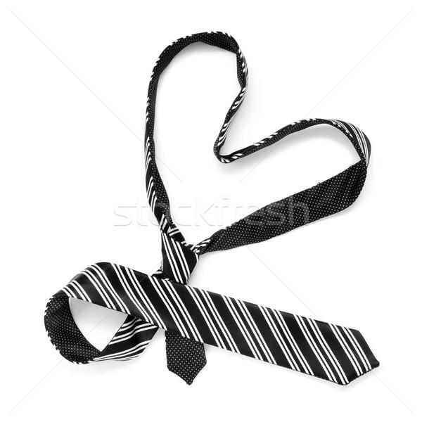 Tie serca biały miłości moda projektu Zdjęcia stock © nito