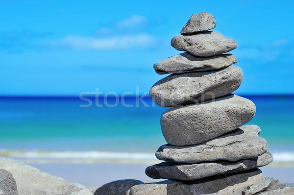 Stock photo: stack of stones
