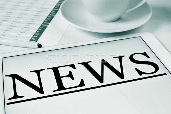 coffe and news Stock photo © nito