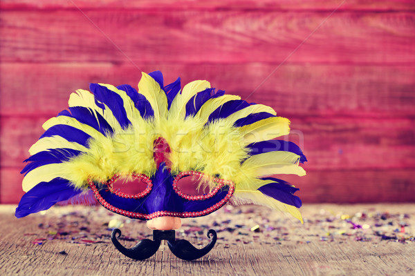 carnival mask with fake nose and mustache Stock photo © nito