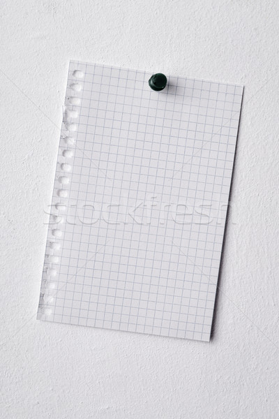 blank piece of paper pinned in a wall Stock photo © nito