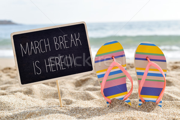 text march break is here on the beach Stock photo © nito