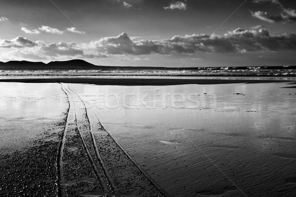 Famara Beach in Lanzarote, Canary Islands, Spain Stock photo © nito