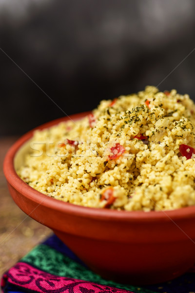 Charakteristisch arab Salat Schüssel Tabelle Stock foto © nito