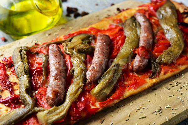 чабер торт аналогичный пиццы ломтик Сток-фото © nito