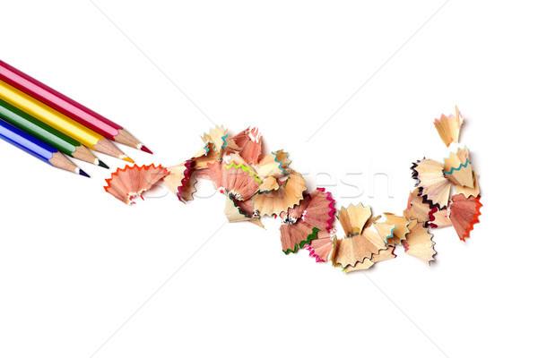 Lápis giz de cera diferente cores tiro Foto stock © nito