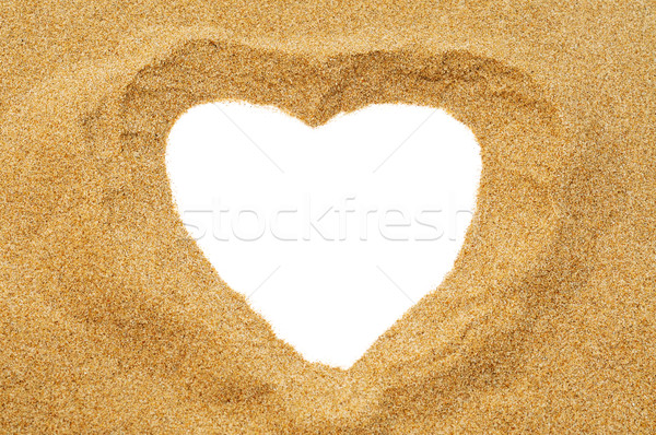 heart in the sand Stock photo © nito
