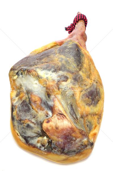 Serrano jambon jambe espagnol blanche alimentaire Photo stock © nito