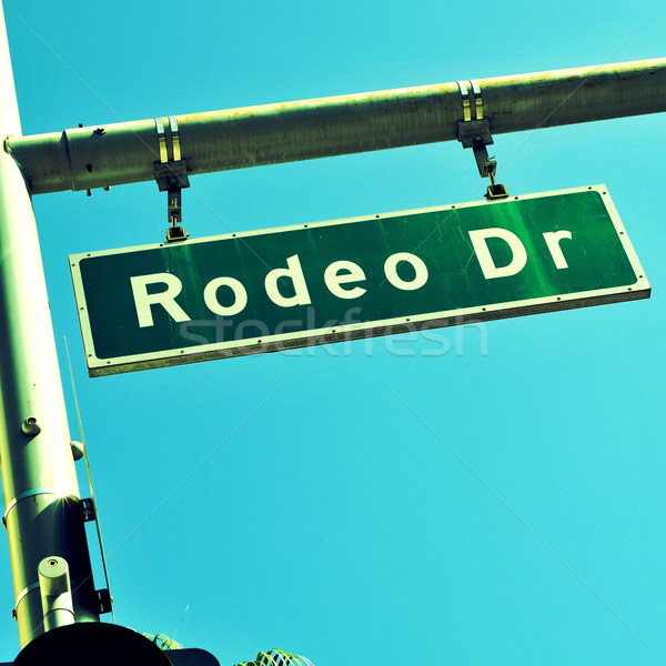 Rodeo Drive sign, in Beverly Hills, US Stock photo © nito