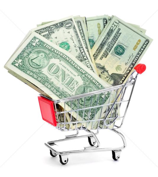 US dollar banknotes in a shopping cart Stock photo © nito