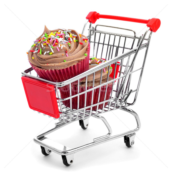 cupcakes in a shopping cart Stock photo © nito