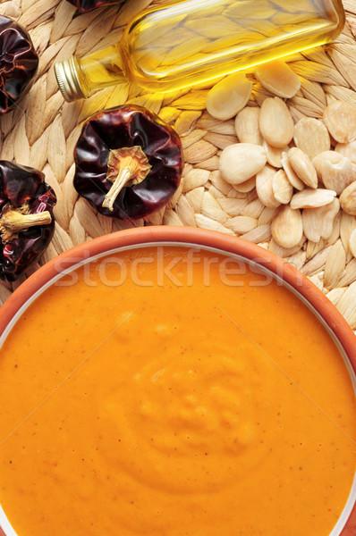Salsa típico España tazón ingredientes pimienta Foto stock © nito