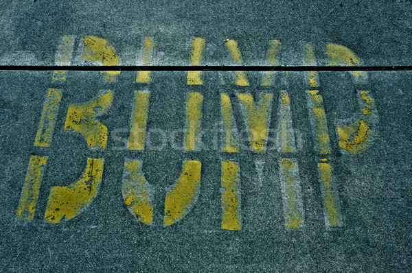 speed bump sign Stock photo © nito