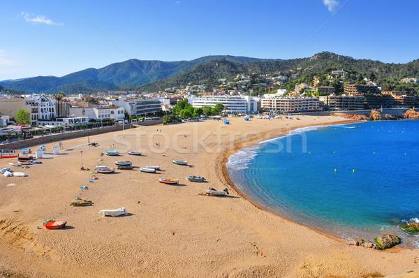 Platja Gran beach in Tossa de Mar, Spain Stock photo © nito