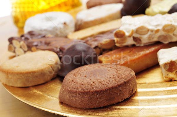 turron, mantecados and polvorones, typical christmas sweets in S Stock photo © nito