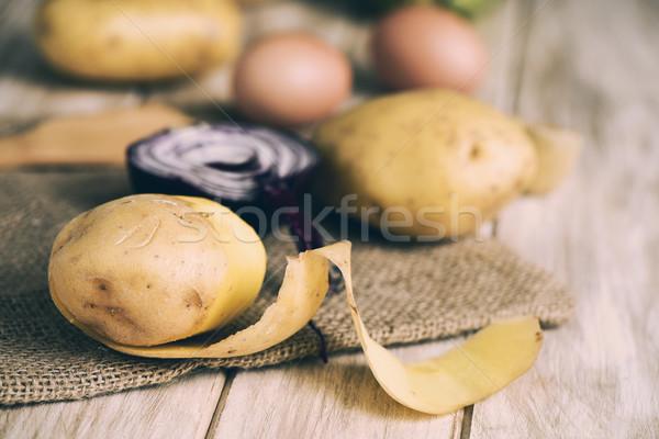 タマネギ 卵 クローズアップ 生 ストックフォト © nito