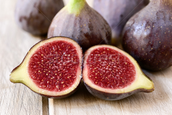 ripe figs on a wooden table Stock photo © nito
