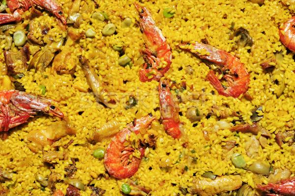 spanish paella mixta Stock photo © nito