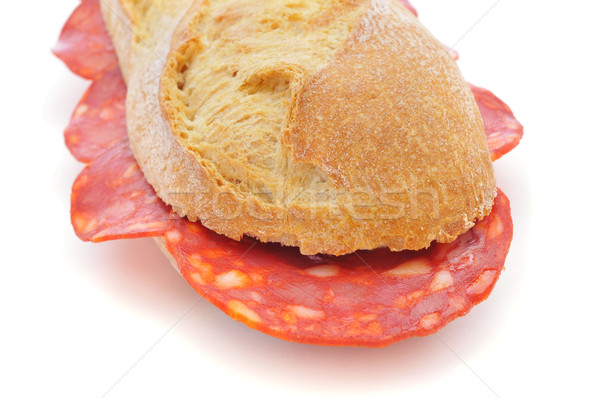 spanish bocadillo de chorizo, a chorizo sandwich Stock photo © nito