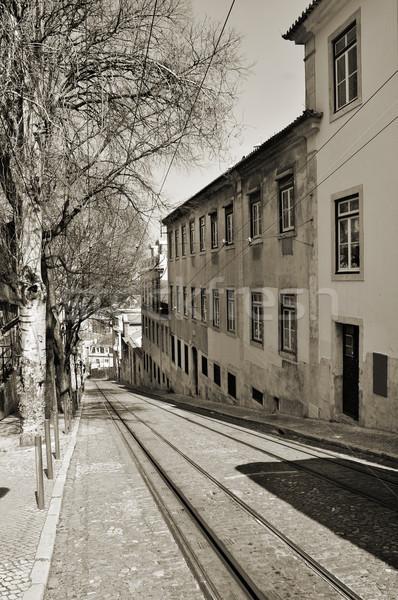Calcada da Gloria in Lisbon, Portugal Stock photo © nito