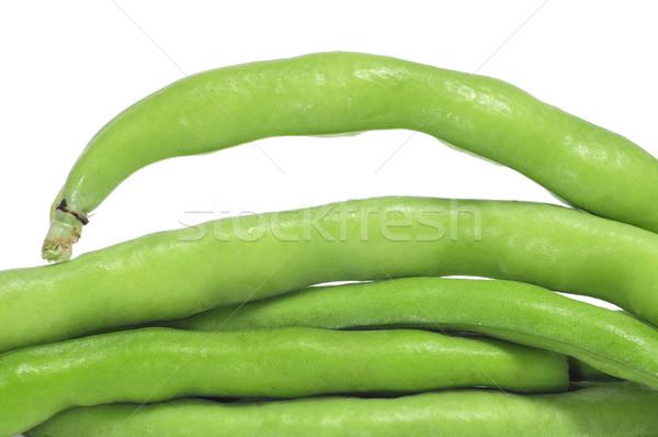 フランス語 豆 クローズアップ 白 食品 ストックフォト © nito
