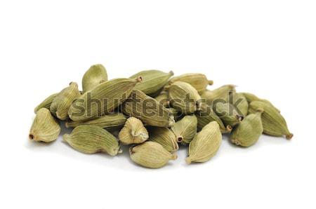 Yeşil kakule tohumları beyaz gıda Stok fotoğraf © nito