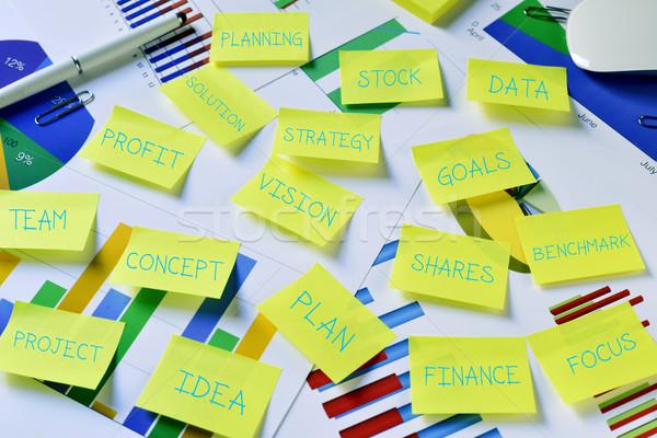 付箋 ビジネス 戦略 計画 ビジョン ストックフォト © nito