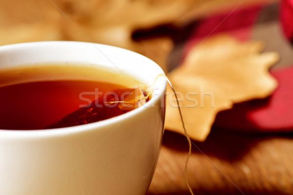 Copo chá saco branco cerâmico Foto stock © nito