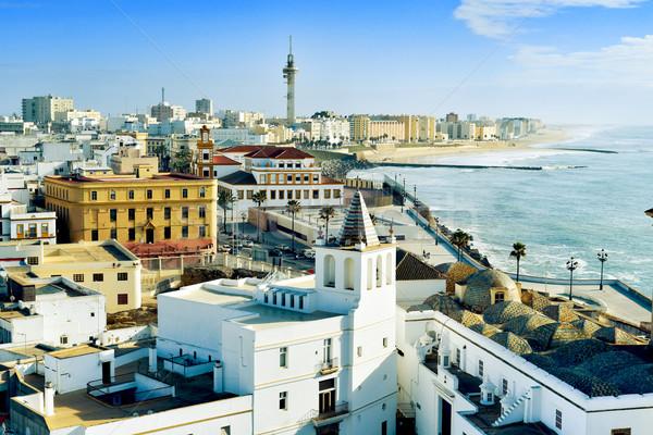 ストックフォト: スペイン · 地中海 · 海 · ビーチ · 市