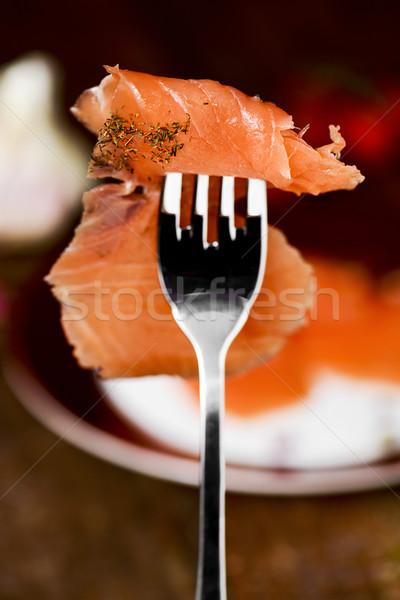 Marinato primo piano fetta pesce home Foto d'archivio © nito