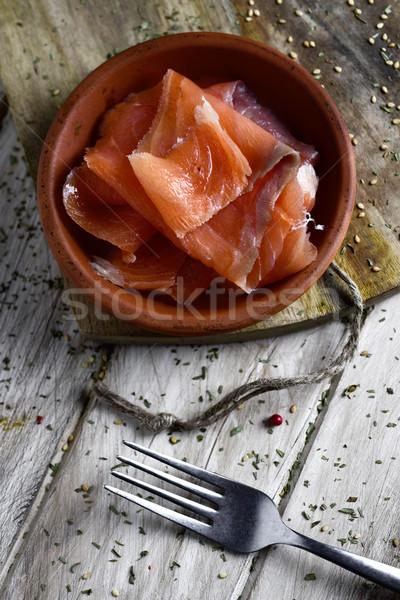 slices of smoked salmon  Stock photo © nito