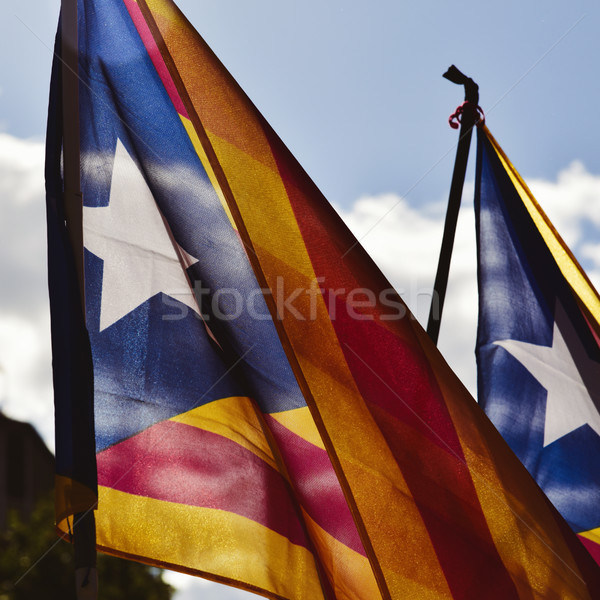 the estelada, the catalan pro-independence flag Stock photo © nito