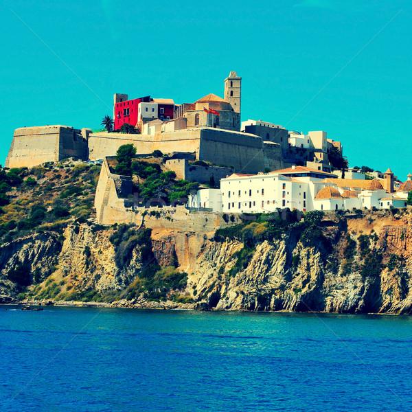 Ibiza Town, in Ibiza island, Balearic Islands, Spain Stock photo © nito