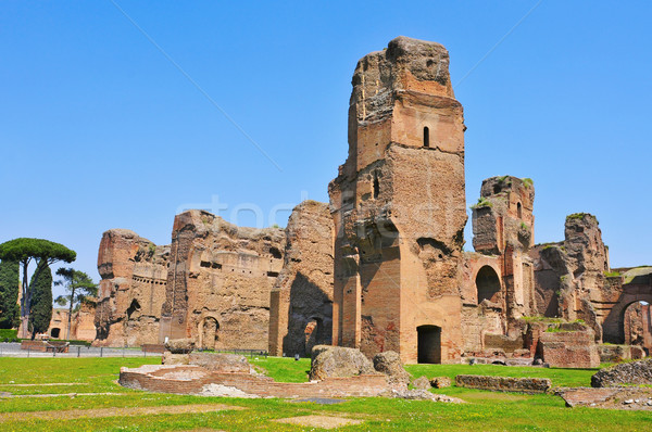 Baths of Caracalla in Rome, Italy Stock photo © nito