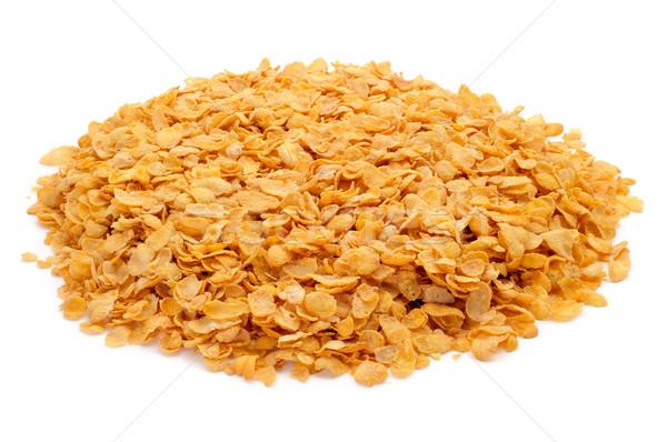 Cornflakes witte gezondheid achtergrond oranje Stockfoto © nito