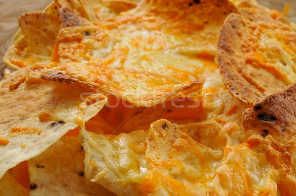 Nachos queijo tigela comida alimentação Foto stock © nito